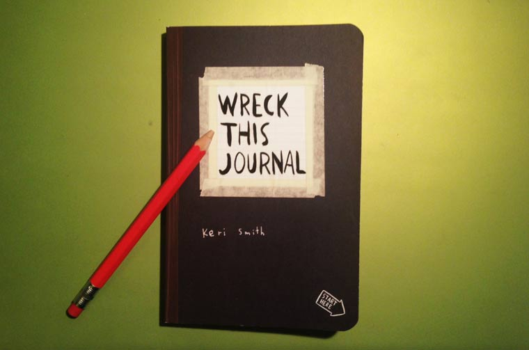 Ich zerstöre kreativ ein Buch: Wreck This Journal wreck_this_journal_01
