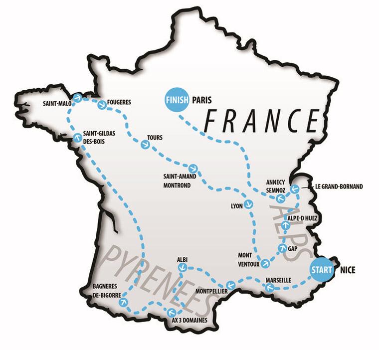 Die Tour de France-Strecke nachLAUFEN(!)
