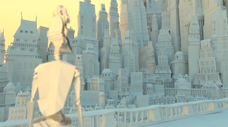 Eine Stadt aus Papier