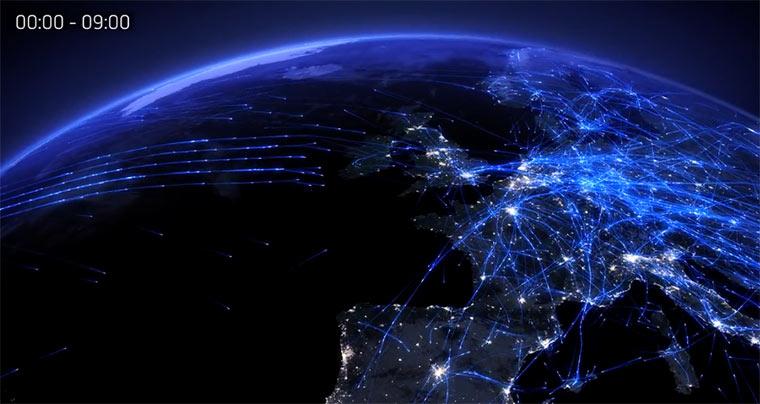 Visualisiert: 24 Stunden Flugnetz 24h_flugnetz