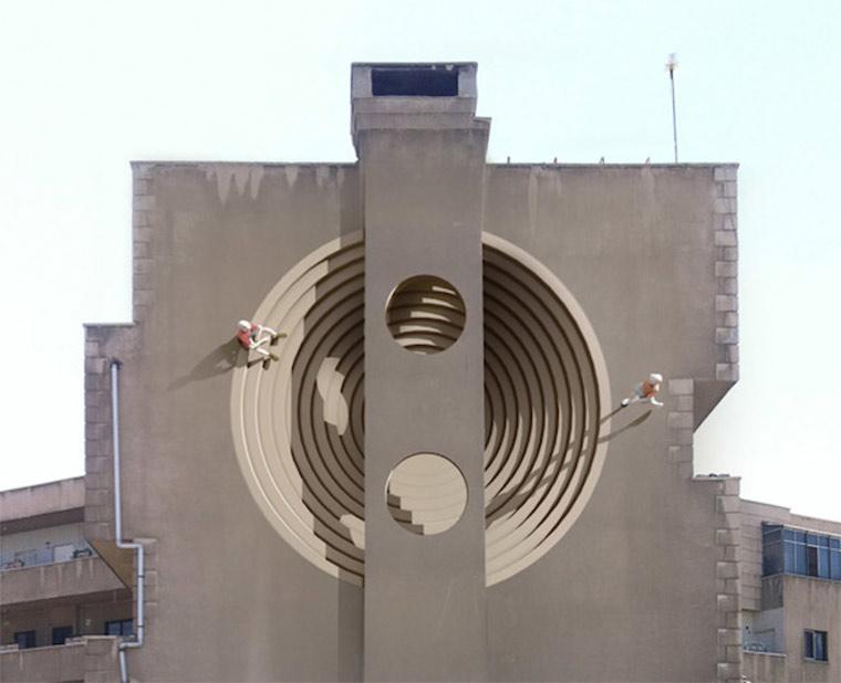 Perspektivische Murals in Teheran Blue_Sky_Painters_01
