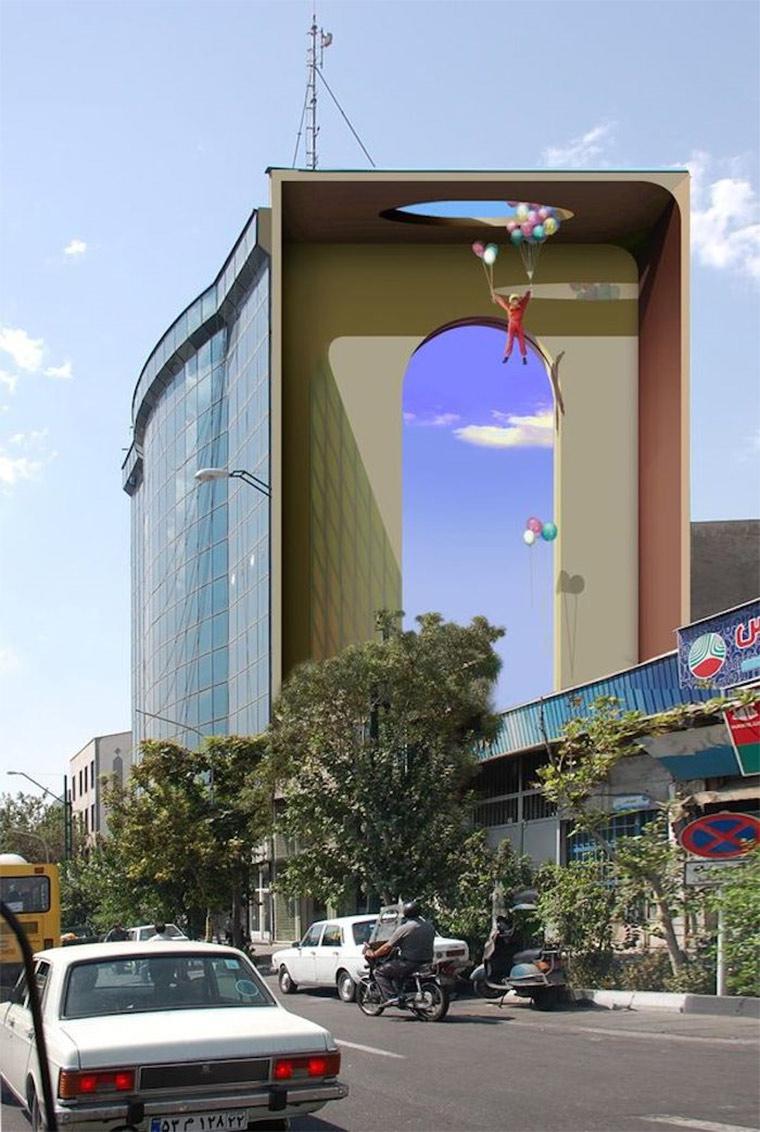 Perspektivische Murals in Teheran Blue_Sky_Painters_02