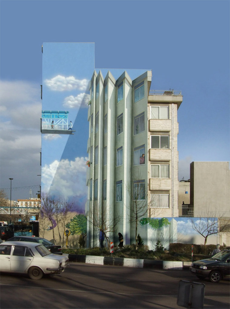 Perspektivische Murals in Teheran Blue_Sky_Painters_03