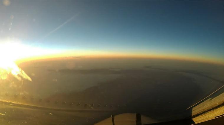 Timelapse: Cockpit-Flug mit einer Boeing Boeing-Timelapse