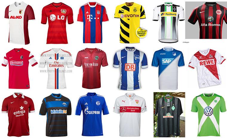 Alle Bundesliga-Trikots 2014/15 Bundesliga-Trikots_2014-15