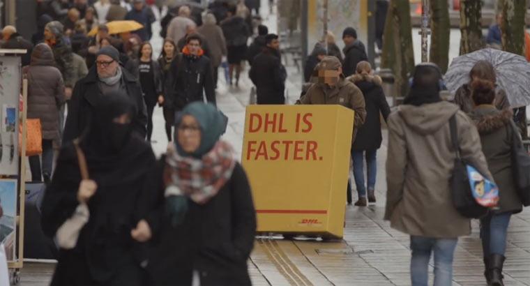 DHL lässt UPS-Lieferanten für sich werben DHLups