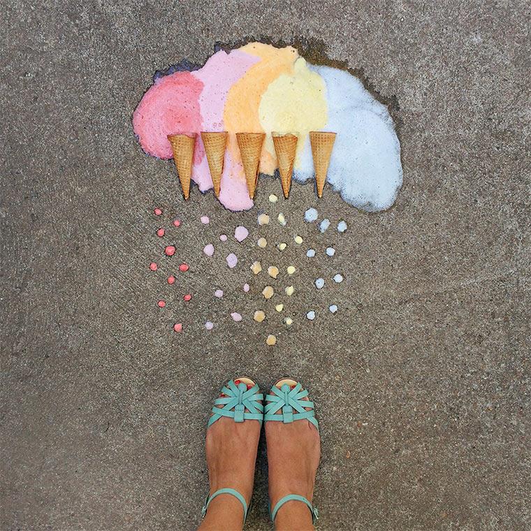 Farbsortierte Gegenstände
