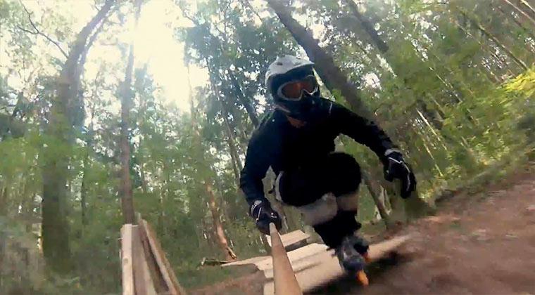 Auf Inlinern durch den Wald brettern Forest_Rollerblading