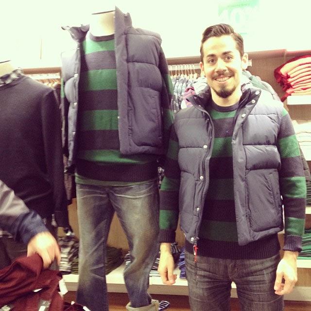 Wenn Männer beim Shoppen auf ihre Frauen warten