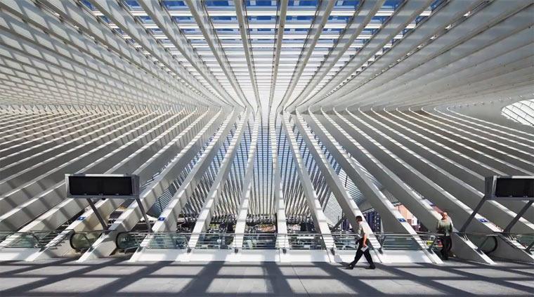 Architektur-Timelapse: Liège-Guillemins Liege-Guillemins