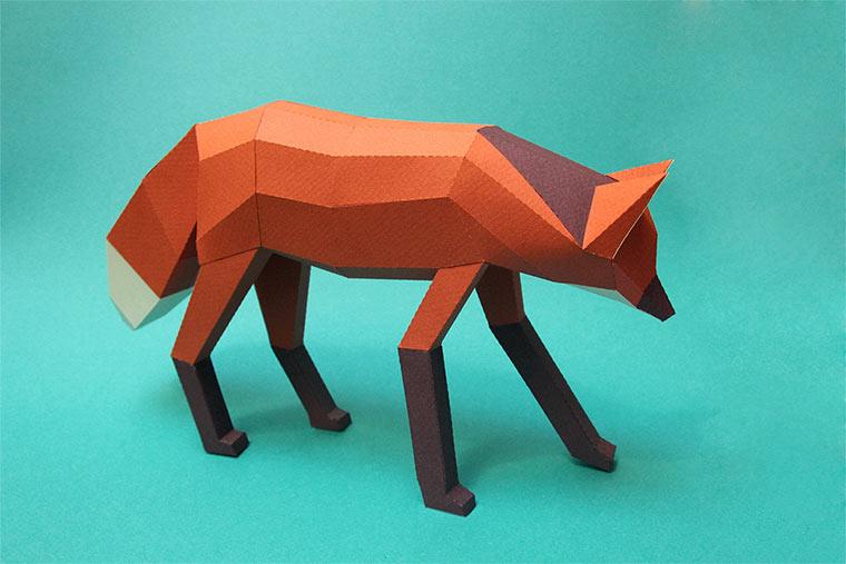 Polygon-Tiere aus Papier Mamiferos_02