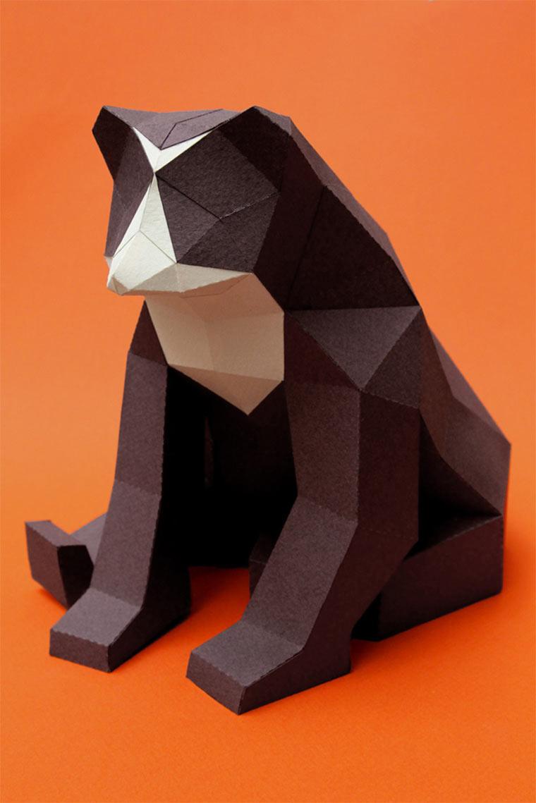 Polygon-Tiere aus Papier Mamiferos_05