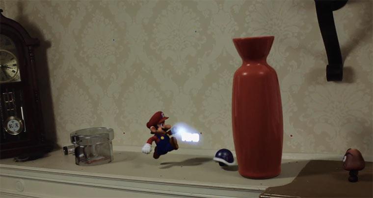 Super Mario zerstört ein Haus