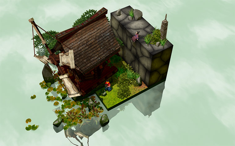 Puzzlespiel mit 4. Dimension Miegakure