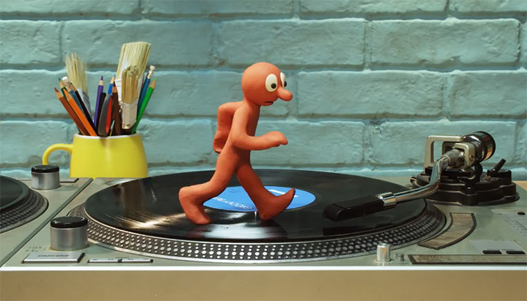 Knetfiguren auf Turntables Morph_Twin_Decks