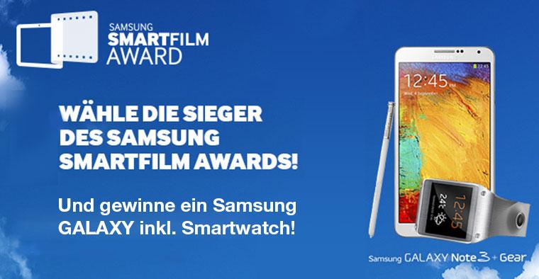 Stimm für deinen Lieblingskurzfilm und gewinne hier und jetzt ein Samsung GALAXY + Smartwatch!