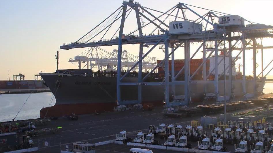 Tagesablauf am Containerhafen Stevedore
