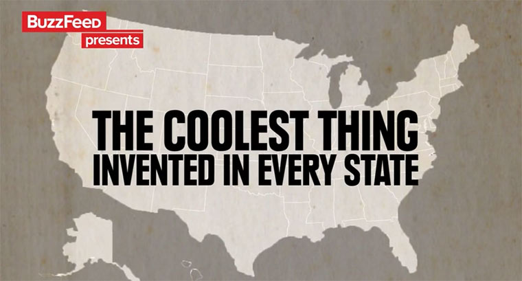 Erfindungen der Vereinigten Staaten Thecoolestthinginventedbyeverystate