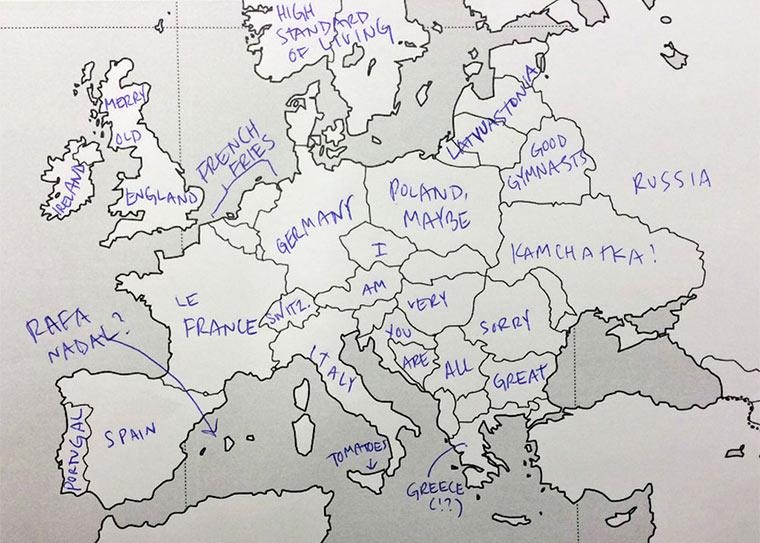 Wenn Amerikaner Europa beschriften