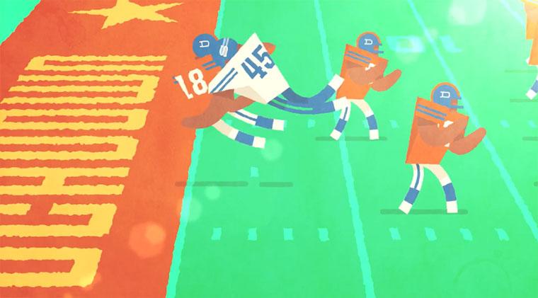 Toll animierter Ratgeber: alles über Football! aguidetonfl