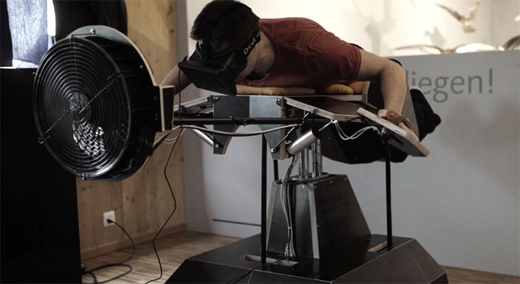 Fliegen mit Oculus Rift birdly