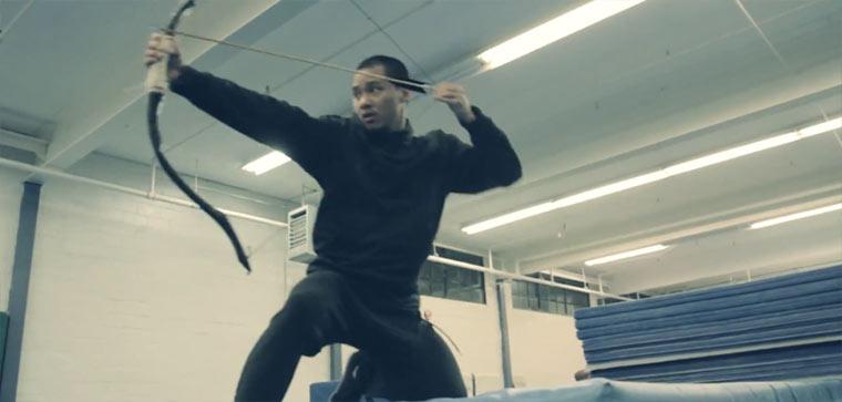 Parkour mit Pfeil und Bogen bow_and_Arrow_practice