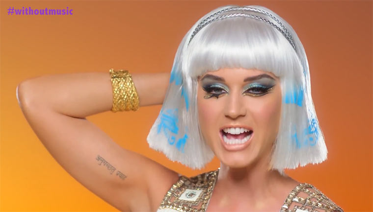 Katy Perrys Dark Horse ohne Musik