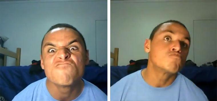 Gesichtsakrobatik zu Dubstep dubstep_face