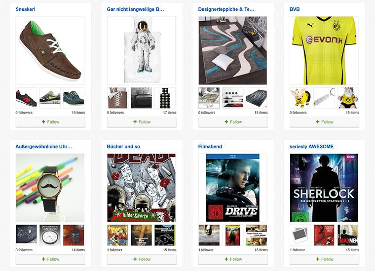 Neu bei eBay: Kollektionen