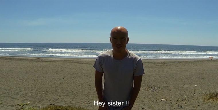 Geburtstagsvideo für die Schwester daheim