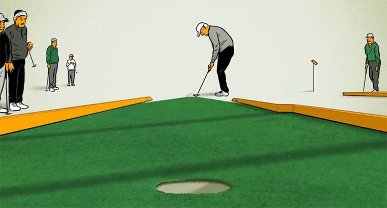 Das perfekte Minigolf-Spiel putt-putt_perfection