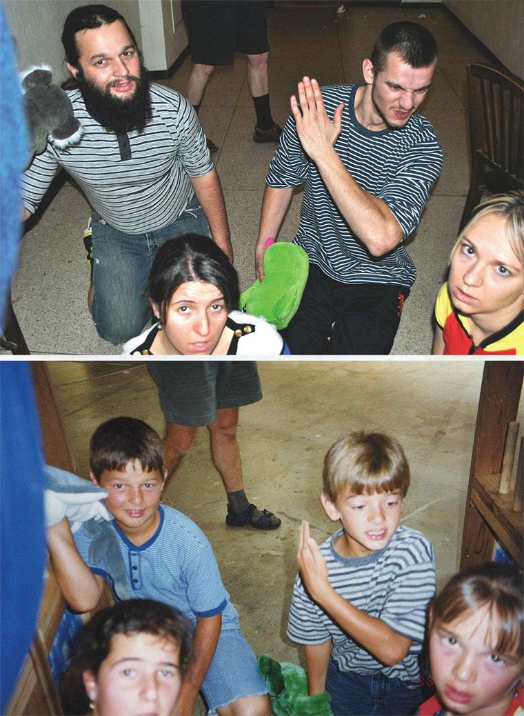 Kinder stellen Kindheitsfotos nach recreate_pics_10
