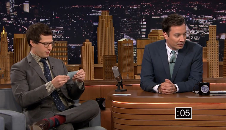 Andy Samberg in der Tonight Show