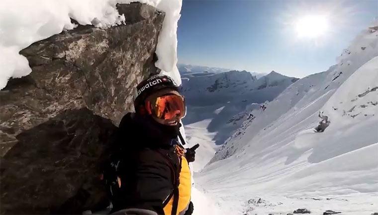 GoPro: Snowboard-Gipfel-Abfahrt