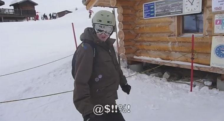 Das erste Mal Skilift ist gar nicht so einfach skilift_fail