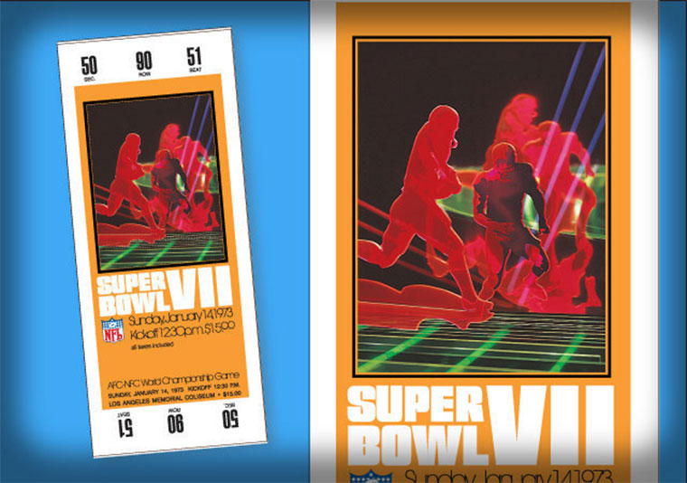 Evolution der Super Bowl Tickets