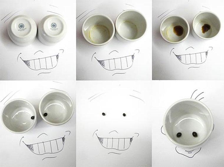 Kreative Gesichter aus Alltagsdingen