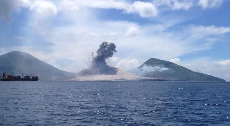Vulkanausbruch in Papua-Neuguinea vulkanausbruch