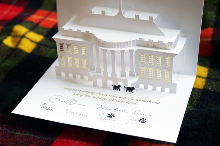 White House Pop Up Christmas Card