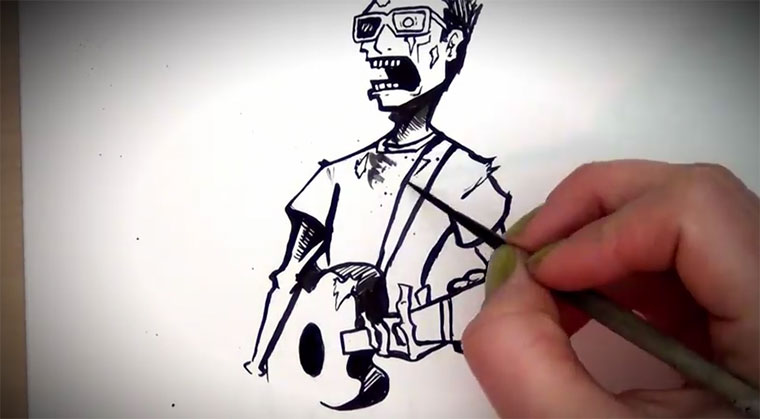 Speed Drawing: Zombie Blues zombie_blues
