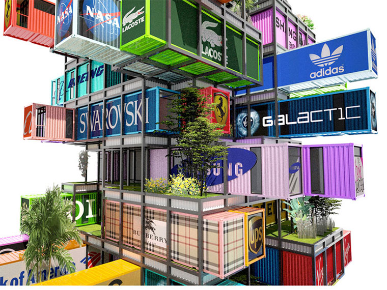Das schiffscontainer hotel - The hive inn hotel ...