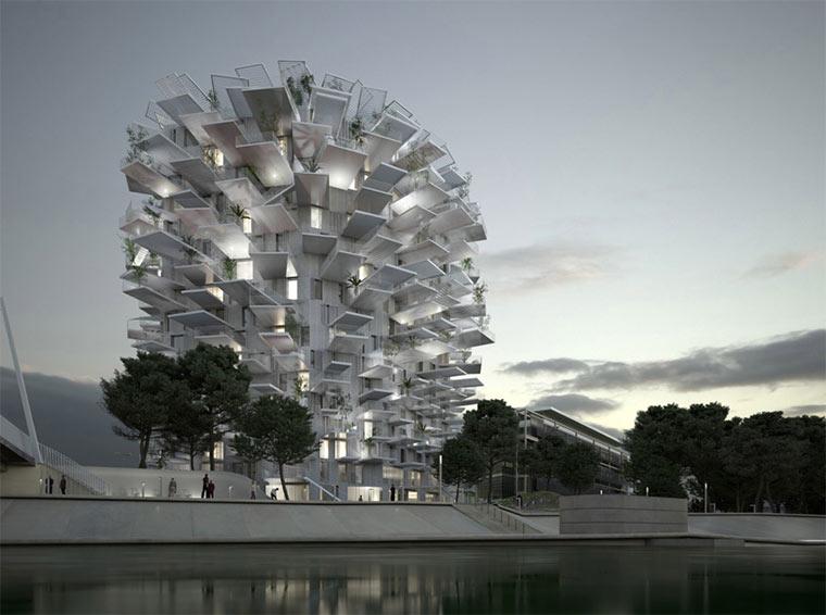Hochhaus mit Balkon-Verästelungen Richter-Tower_01
