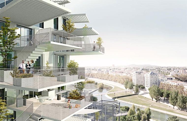 Hochhaus mit Balkon-Verästelungen Richter-Tower_02