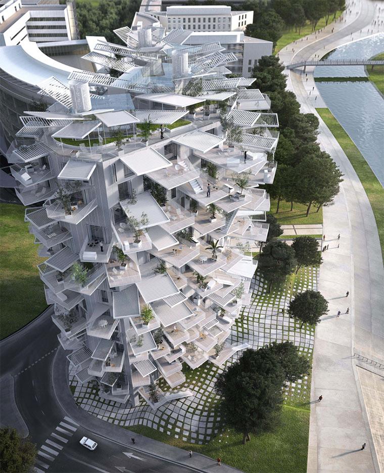 Hochhaus mit Balkon-Verästelungen Richter-Tower_03