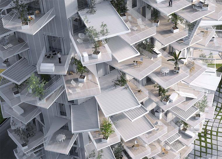 Hochhaus mit Balkon-Verästelungen Richter-Tower_04