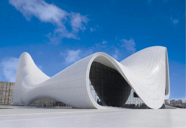 heydar aliyev cultural center feinste architektur in aserbaidschan. Black Bedroom Furniture Sets. Home Design Ideas