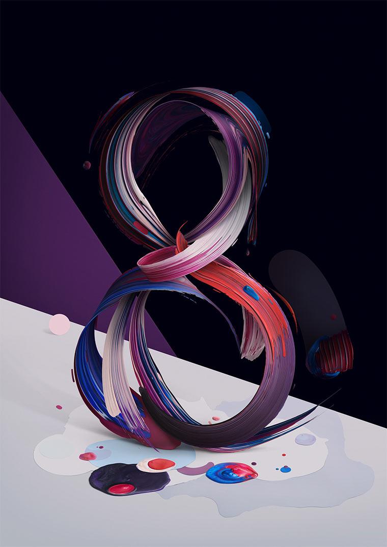 Gemalte 3D-Typografie Atypical_04