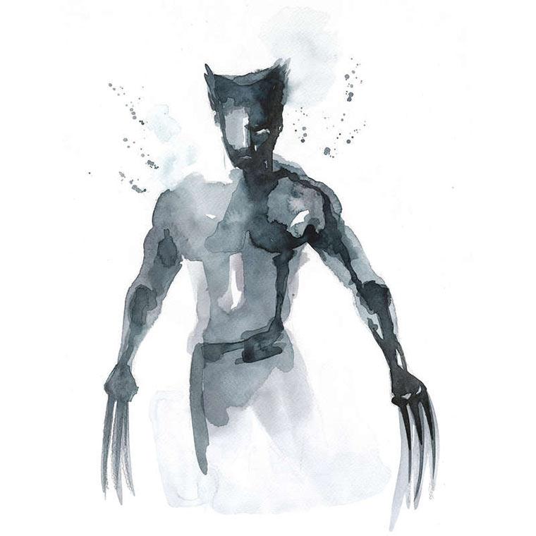 Superhelden-Portraits aus Wasserfarbe Blule_03