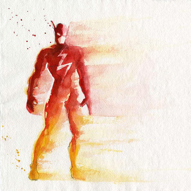 Superhelden-Portraits aus Wasserfarbe Blule_08