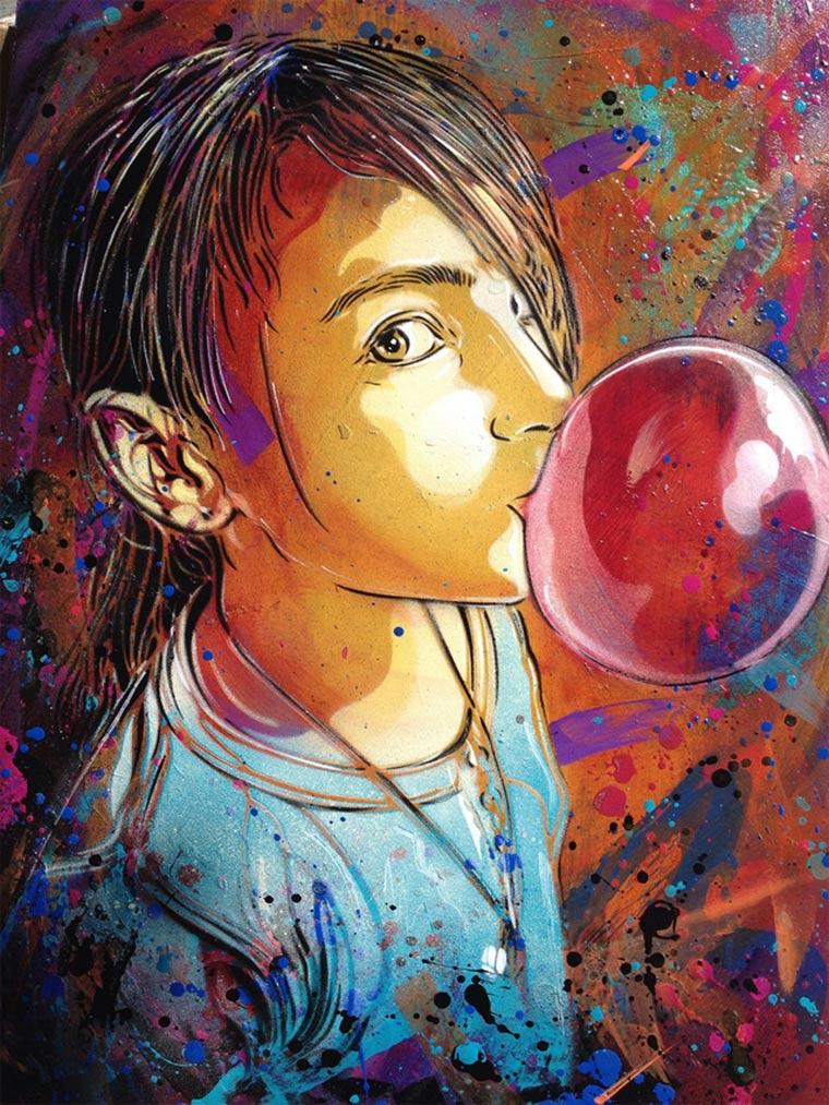 Neue Murals von Street Artist C215